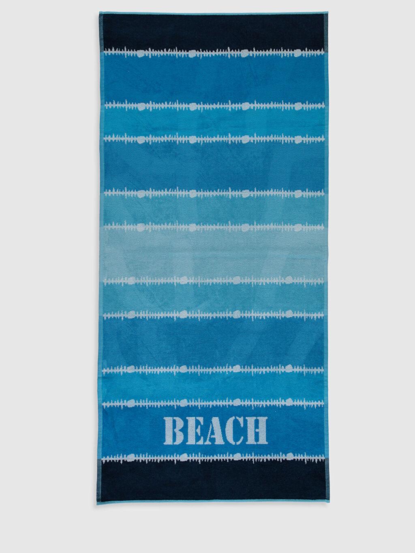 Mavi Baskılı Plaj Havlusu 0S6348Z8 LC Waikiki