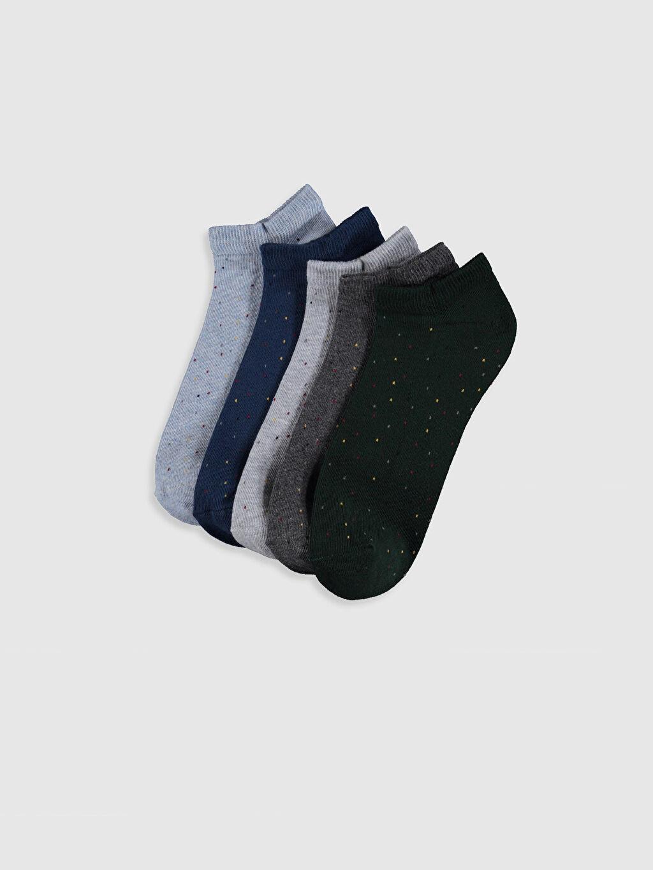 Çok Renkli Puantiyeli Patik Çorap 5'li 0S6393Z8 LC Waikiki