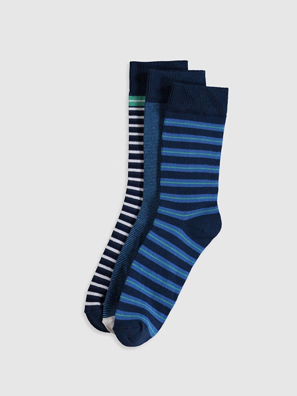 Çok Renkli Çizgili Soket Çorap 3'lü 0S6416Z8 LC Waikiki