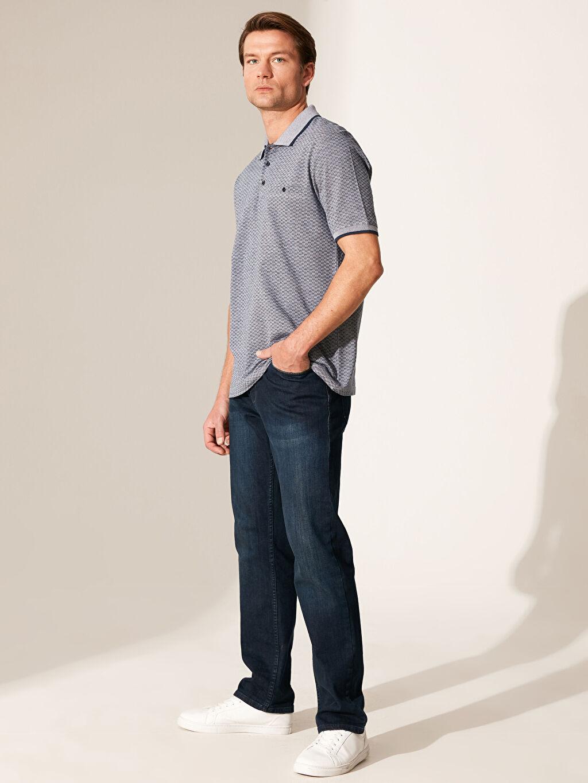 %100 Pamuk Polo Yaka Dokulu Tişört