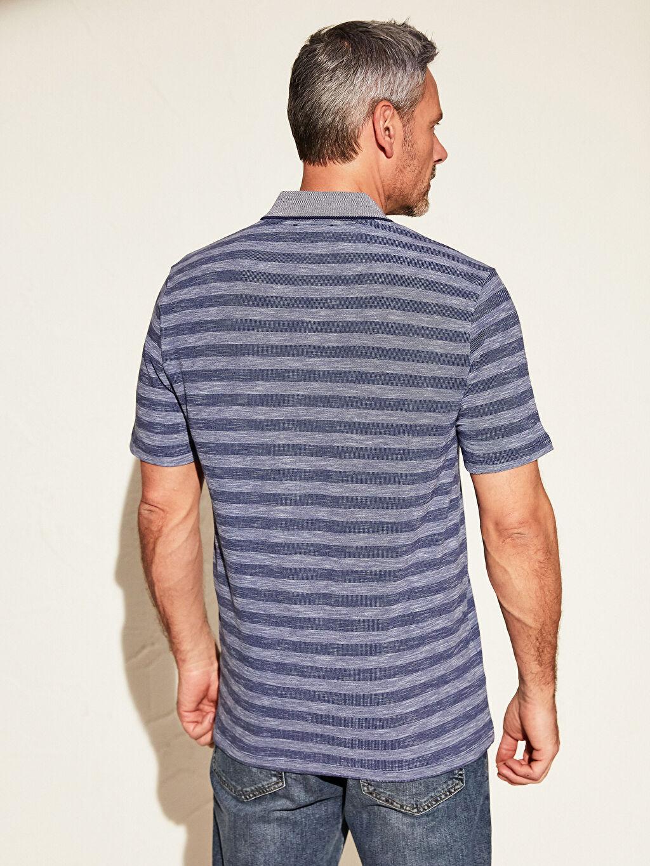 Erkek Polo Yaka Çizgili Tişört