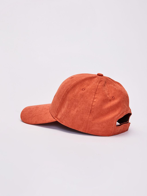 Erkek Yazı Nakışlı Süet Şapka