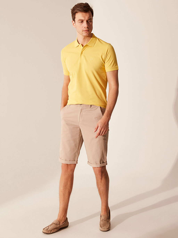 %100 Pamuk Polo Yaka Basic Tişört