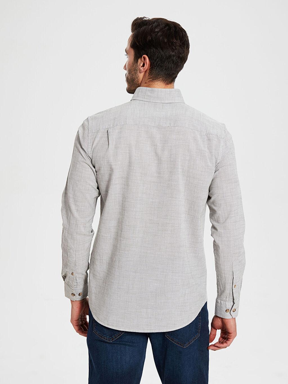 %100 Pamuk Regular Fit Uzun Kollu Poplin Gömlek