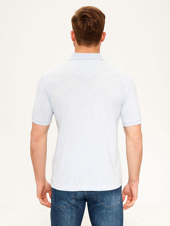 %50 Pamuk %50 Polyester Düz Standart Kısa Kol Tişört Polo Polo Yaka Basic Tişört