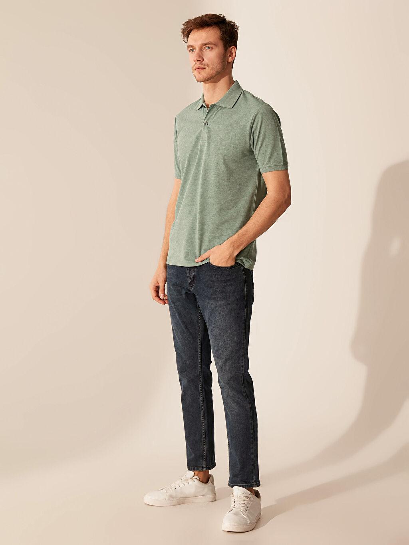 %50 Pamuk %50 Polyester Polo Yaka Basic Tişört