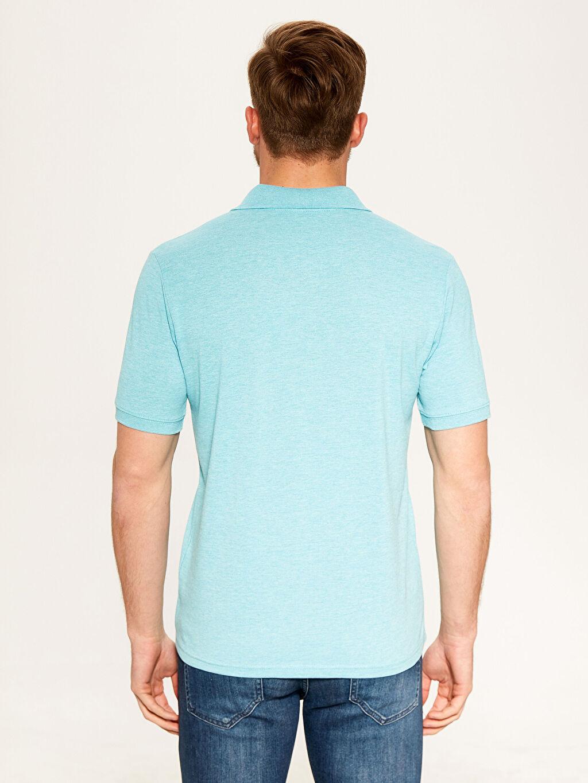 %48 Pamuk %52 Polyester Düz Standart Kısa Kol Tişört Polo Polo Yaka Basic Tişört