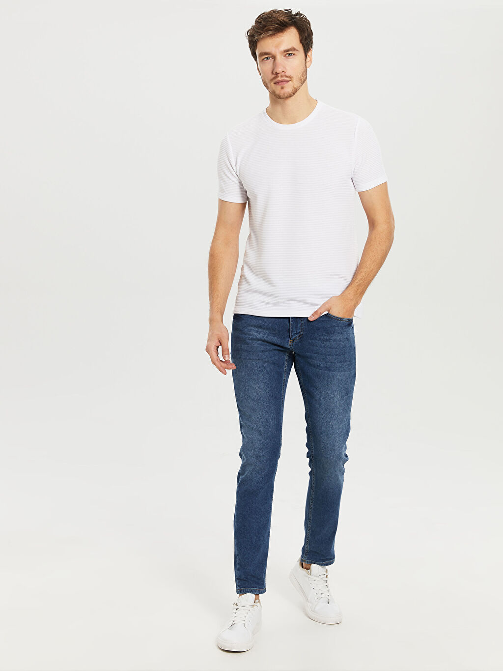 %100 Polyester Slim Fit Basic Tişört