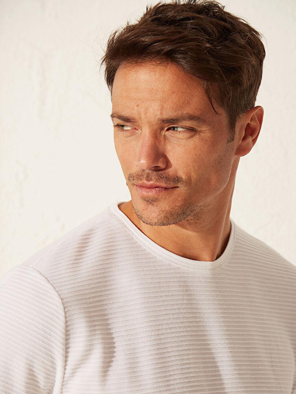 LC Waikiki Beyaz Slim Fit Basic Tişört
