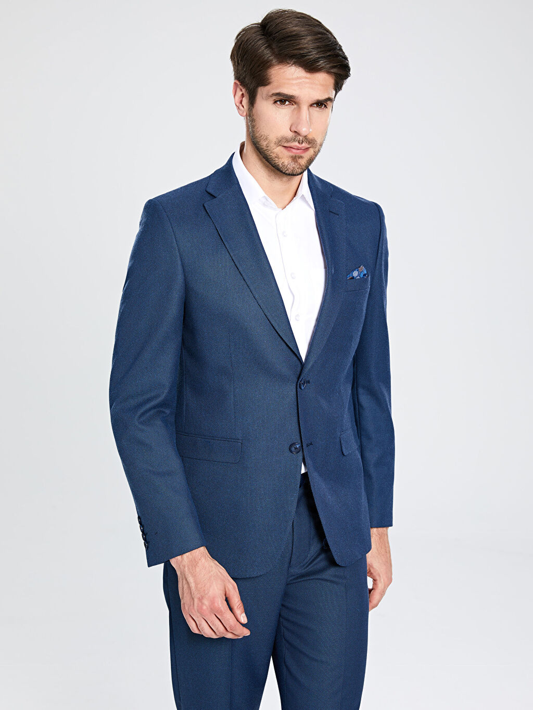 %70 Polyester %29 Viskoz %1 Elastan %100 Polyester  Standart Kalıp Blazer Ceket