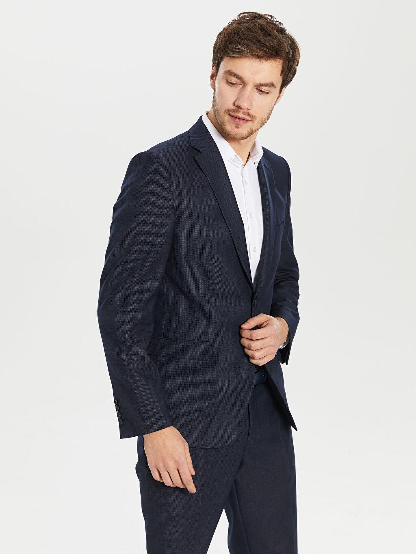 %68 Polyester %32 Viskon %100 Polyester  Standart Kalıp Takım Elbise Ceketi
