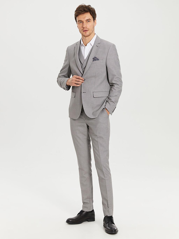Erkek Ekstra Dar Kalıp Takım Elbise Ceketi