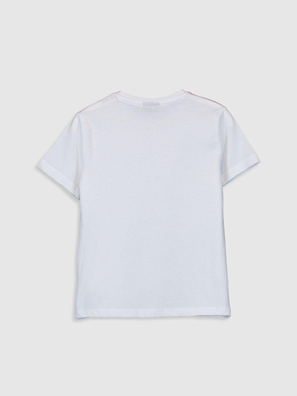 %100 Pamuk Standart Baskılı Tişört Bisiklet Yaka Kısa Kol Erkek Çocuk Yazı Baskılı Pamuklu Tişört