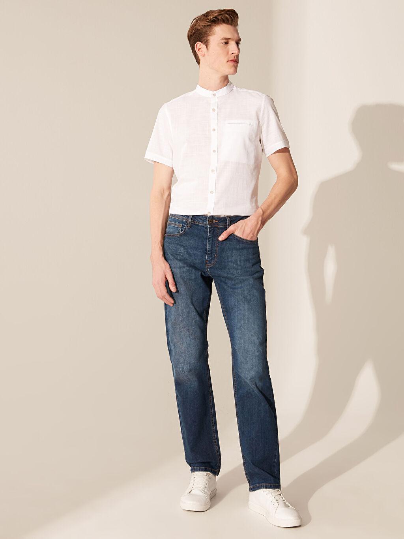 %100 Pamuk Slim Fit Kısa Kollu Poplin Gömlek