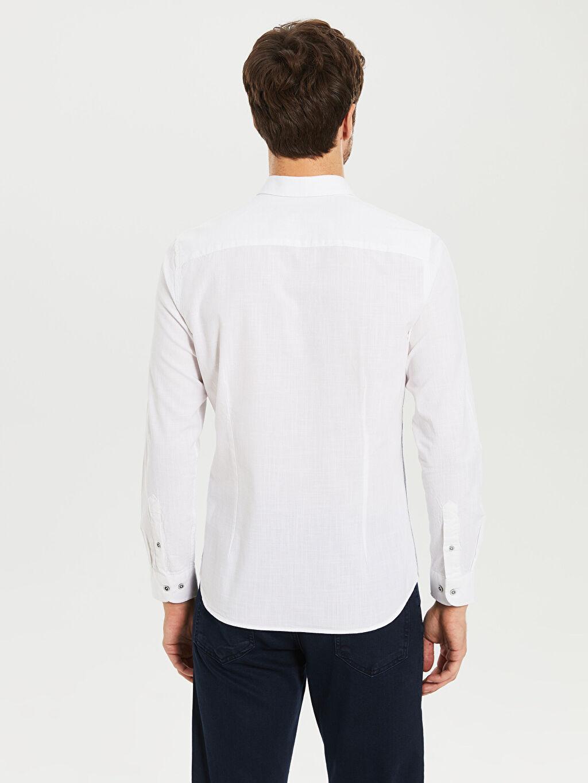 Erkek Slim Fit Pamuklu Gömlek