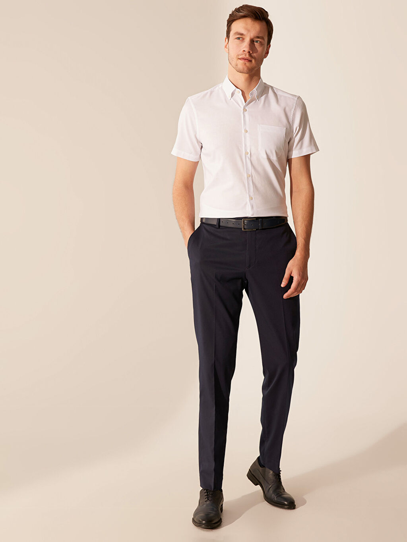 LC Waikiki Beyaz Slim Fit Kısa Kollu Oxford Gömlek