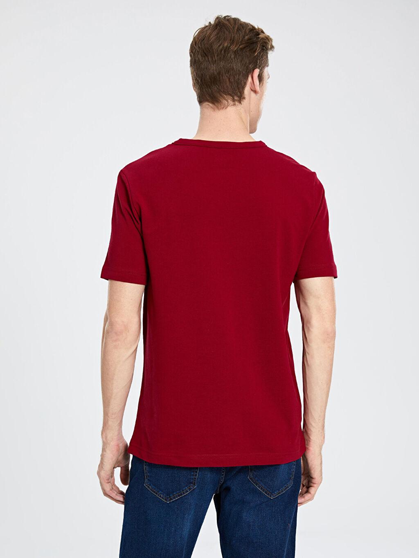 %100 Pamuk Bisiklet Yaka Kısa Kolu Basic Tişört