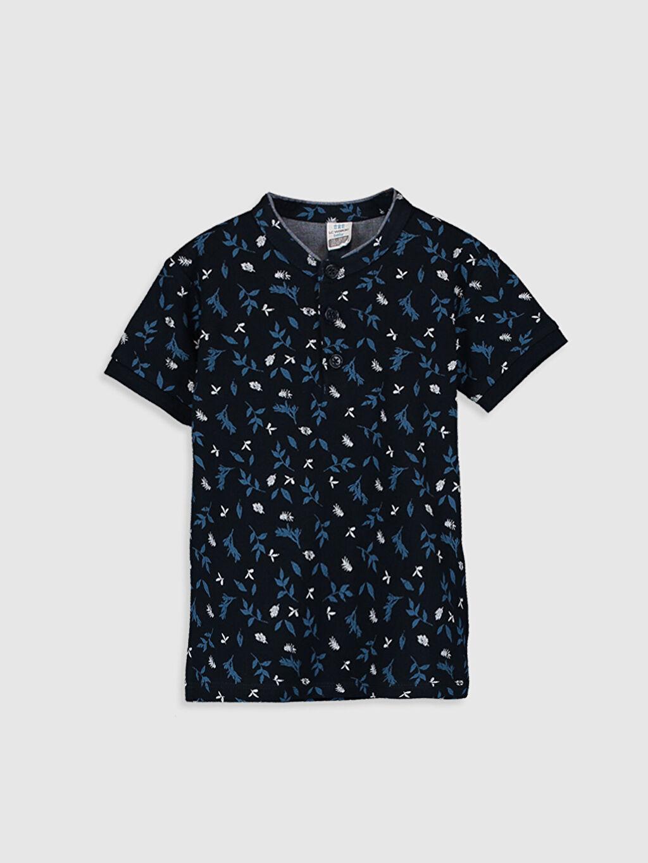 Lacivert Erkek Bebek Baskılı Pamuklu Tişört 0S8443Z1 LC Waikiki
