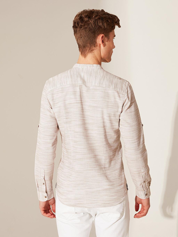 %100 Pamuk Ekstra Slim Fit Kırçıllı Gömlek