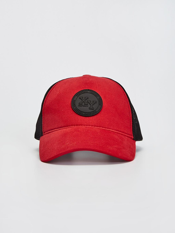 %100 Pamuk  File Detaylı Şapka
