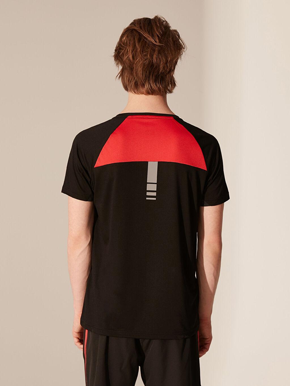 %63 Polyester %37 Viskon Baskılı Standart Kısa Kol Tişört Bisiklet Yaka Bisiklet Yaka Baskılı Penye Tişört