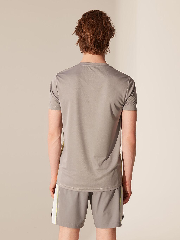 Erkek Renk Bloklu Aktif Spor Tişört
