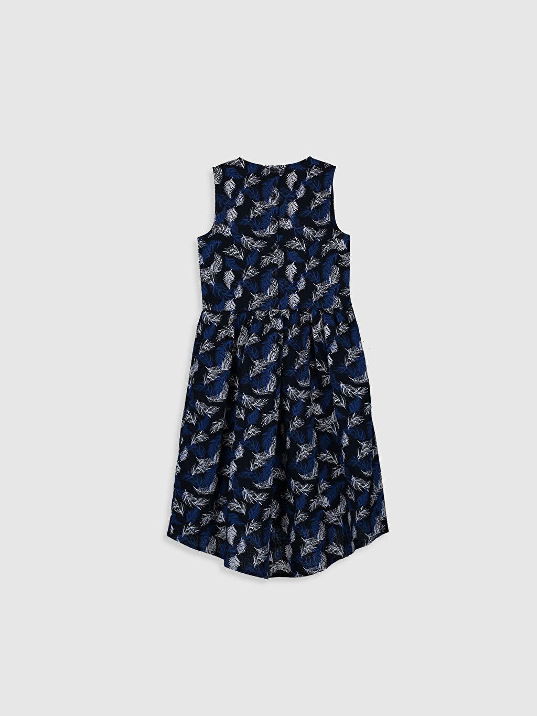 %100 Pamuk %100 Pamuk Diz Altı Desenli Kız Çocuk Desenli Pamuklu Elbise