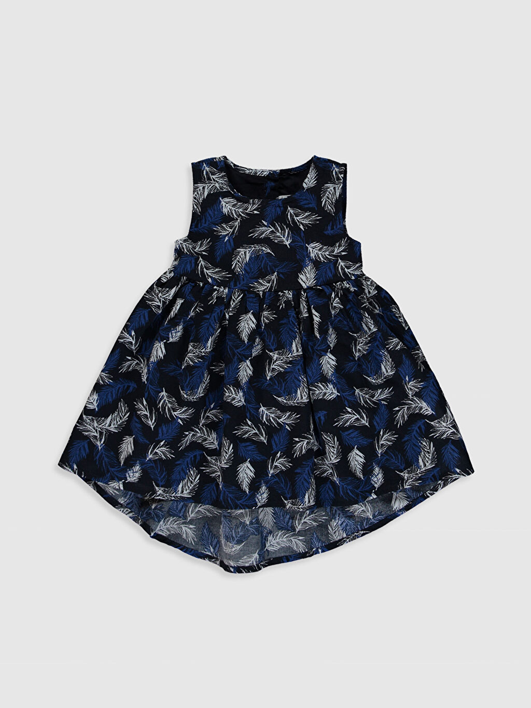 Lacivert Kız Bebek Desenli Elbise 0S8734Z1 LC Waikiki