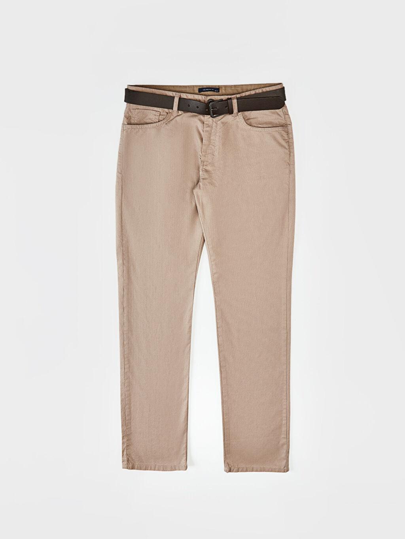 LC Waikiki Bej Slim Fit Armürlü Pantolon