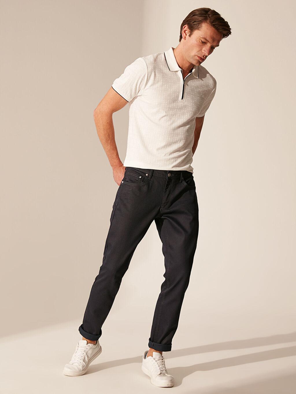 %87.30 Pamuk %11.30 Poliester %1.40 Elastan Dar Normal Bel Jean 757 Slim Fit Jean Pantolon