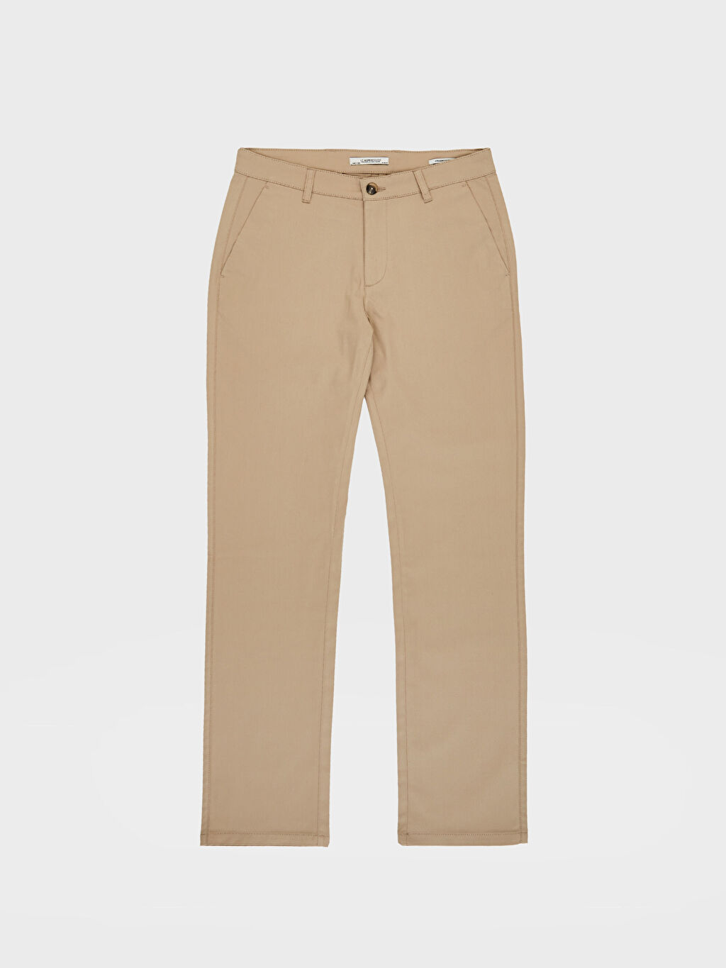 Bej Normal Kalıp Gabardin Chino Pantolon