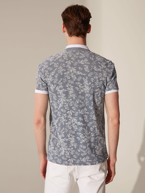 Erkek Polo Yaka Çiçekli Tişört