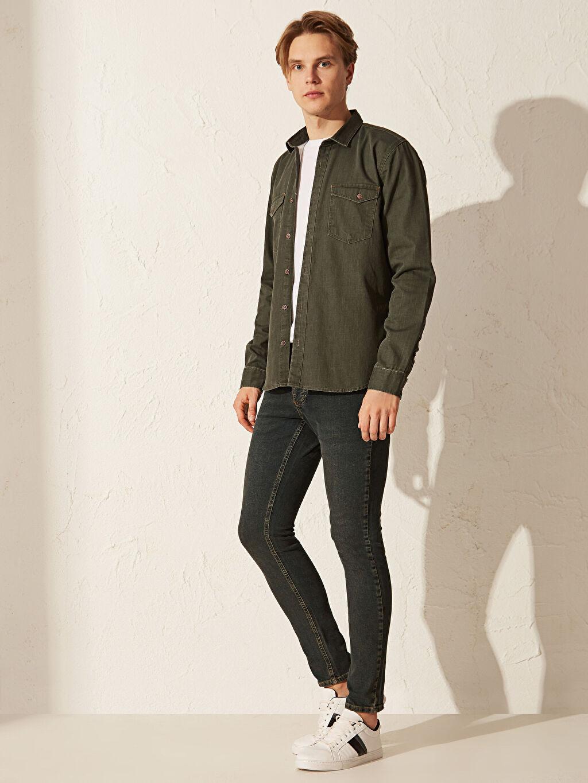 %99 Pamuk %1 Elastan Normal Bel Extra Dar Jean 760 Skinny Fit Jean Pantolon