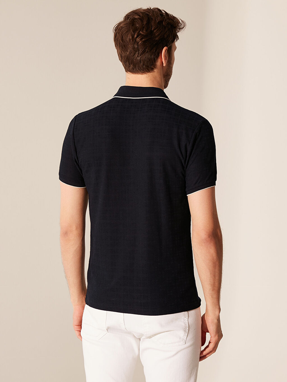 Erkek Polo Yaka Jakarlı Tişört