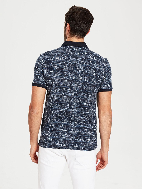 Erkek Polo Yaka Desenli Pike Tişört