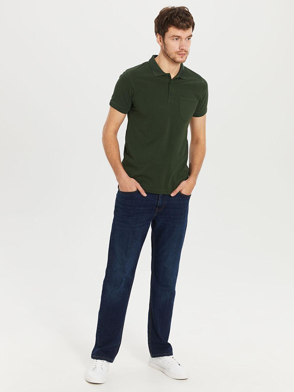 %100 Pamuk Polo Yaka Basic Pike Tişört