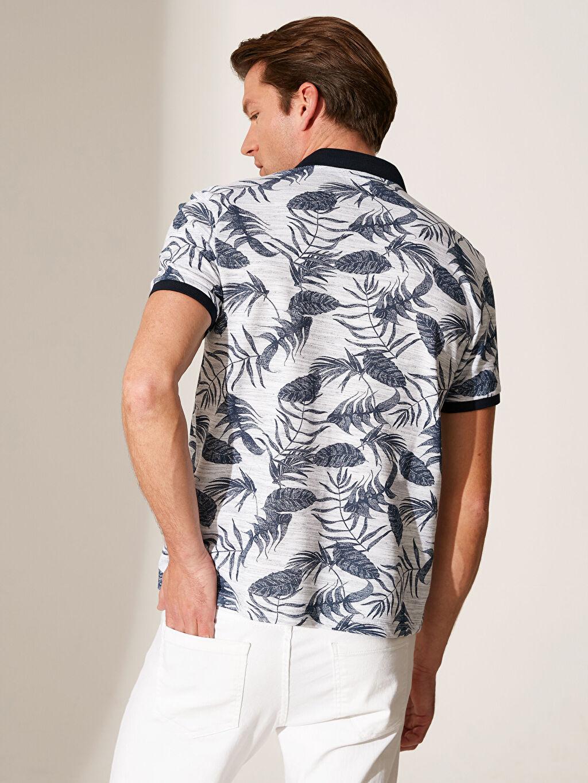 Erkek Polo Yaka Desenli Tişört