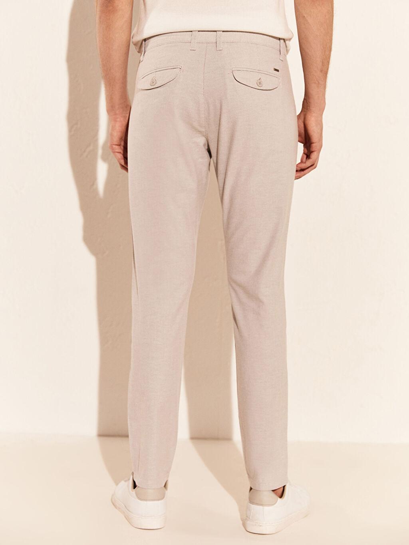 %97 Pamuk %3 Elastan Slim Fit Dokulu Pantolon