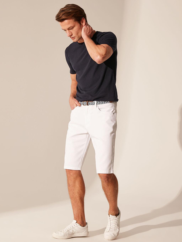 Beyaz Slim Fit Gabardin Roller 0SG010Z8 LC Waikiki