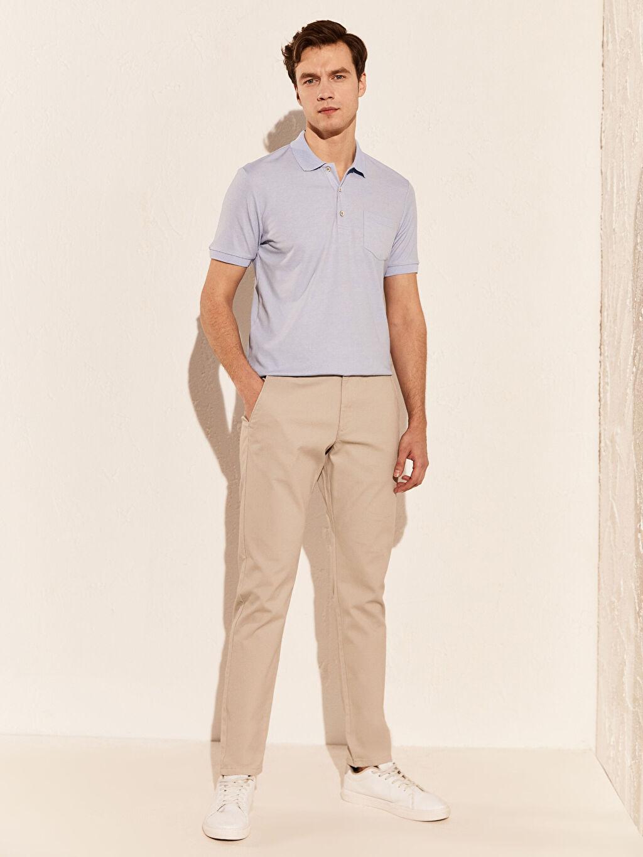 %45 Pamuk %55 Polyester Polo Yaka Basic Tişört