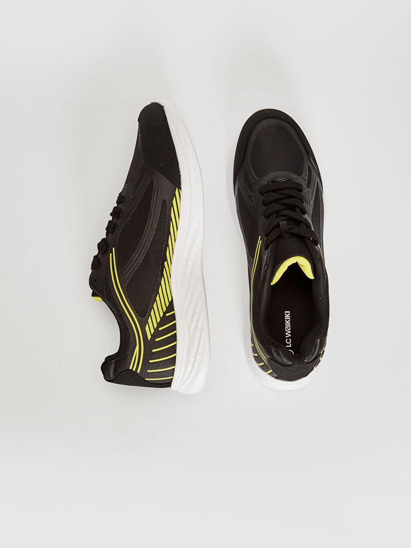 %0 Diğer malzeme (pvc) %0 Tekstil malzemeleri (%100 poliester)  Erkek Bağcıklı Aktif Spor Ayakkabı