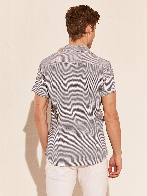 Erkek Ekstra Slim Fit Kısa Kollu Gömlek