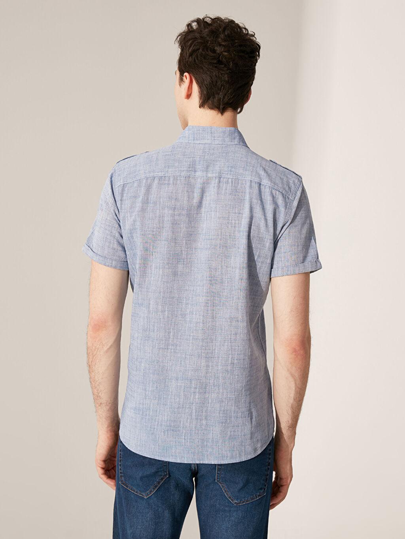Erkek Ekstra Slim Fit Kırçıllı Gömlek