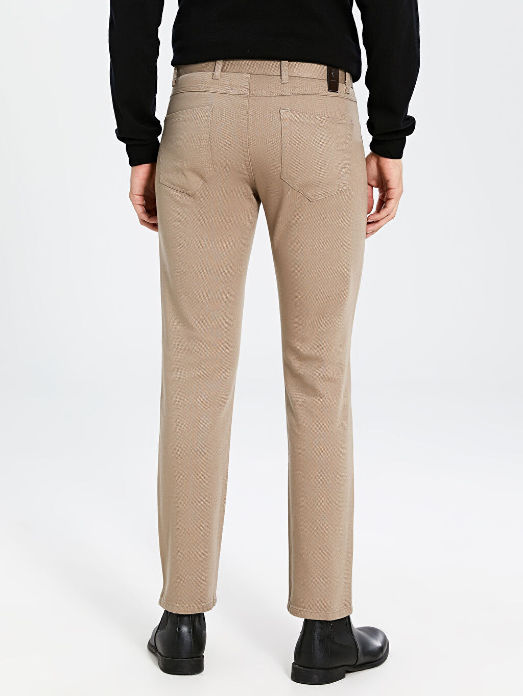 %98 Pamuk %2 Elastan Regular Fit Gabardin Pantolon