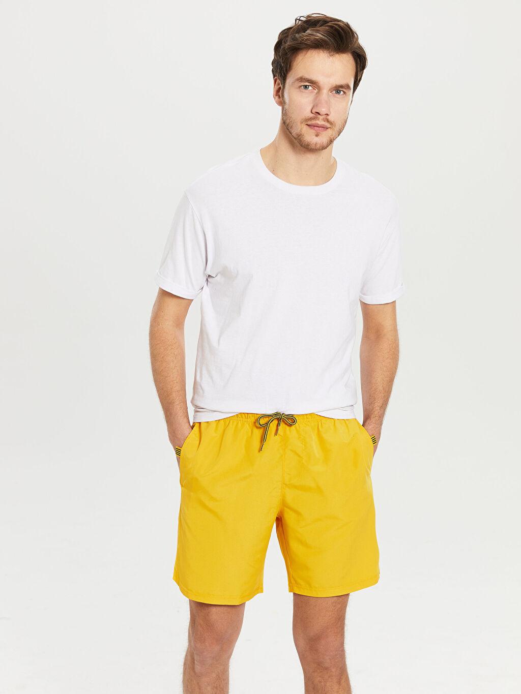 Sarı Diz Üstü Boy Basic Deniz Şortu 0SH941Z8 LC Waikiki