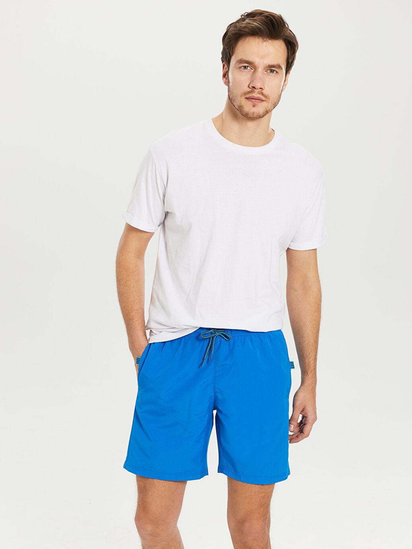 Mavi Diz Üstü Boy Basic Deniz Şortu 0SH941Z8 LC Waikiki