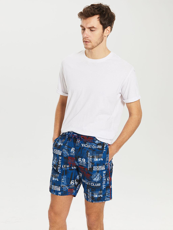 %100 Polyester %100 Polyester  Kısa Boy Standart Kalıp Deniz Şortu