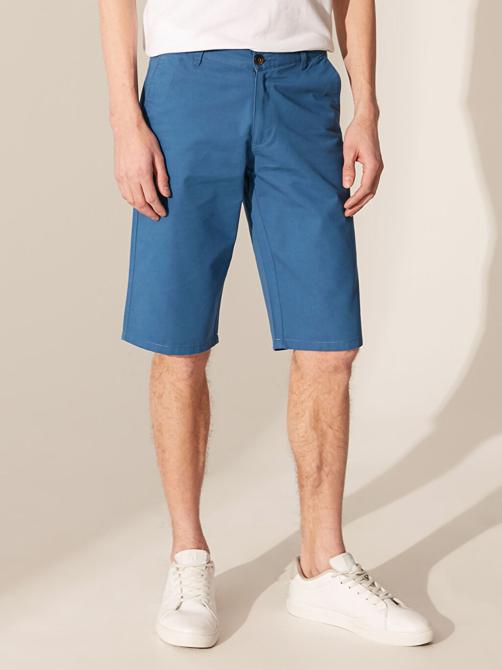Erkek Regular Fit Basic Bermuda Şort