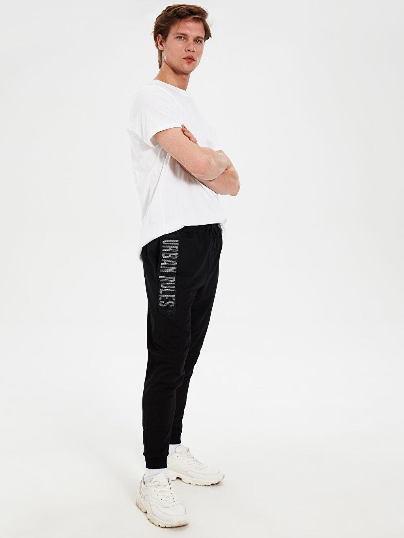 Siyah Slim Fit Jogger Eşofman Altı 0SI450Z8 LC Waikiki