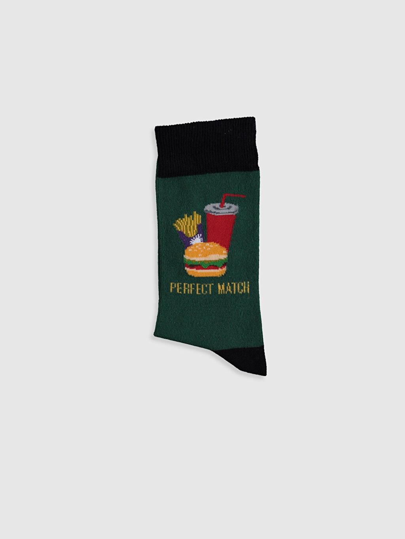 Erkek Baskılı Soket Çorap